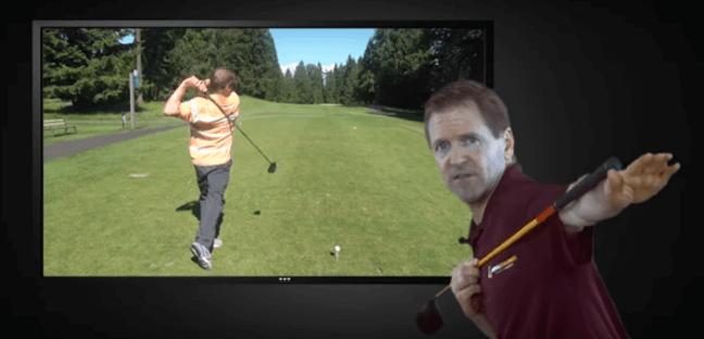 Slice setup golf swing