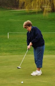 Woman Putting